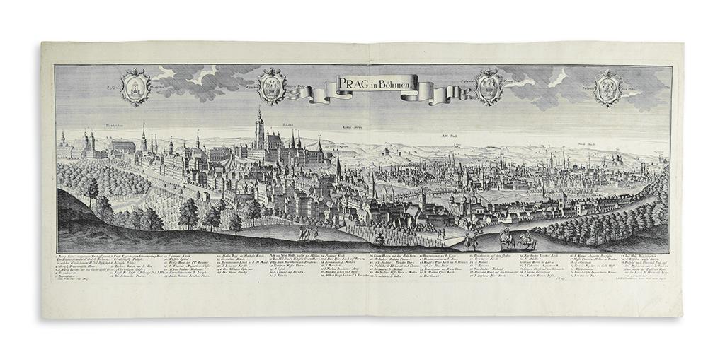 (PRAGUE.) Probst, Johann Friedrich; after Werner, Friedrich Bernhard. Prag in Böhmen.