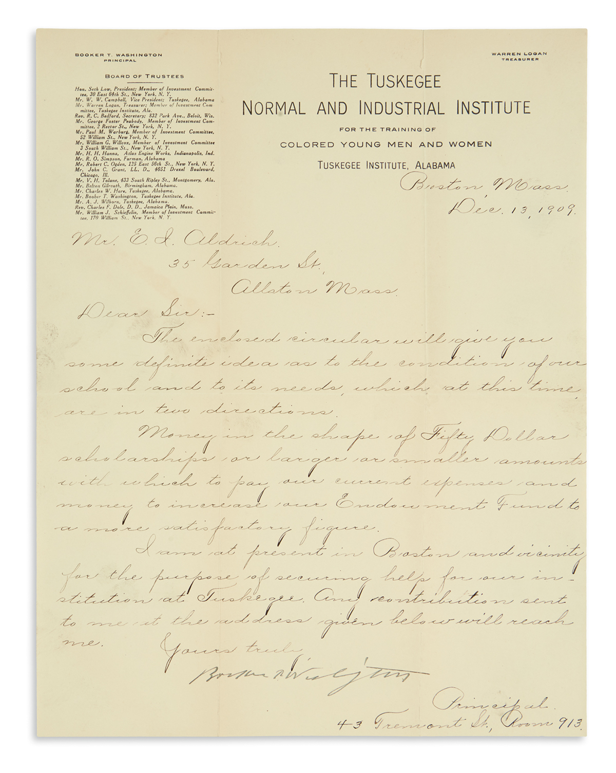 BOOKER-T-WASHINGTON-Letter-Signed-as-Principal-of-The-Tuskeg