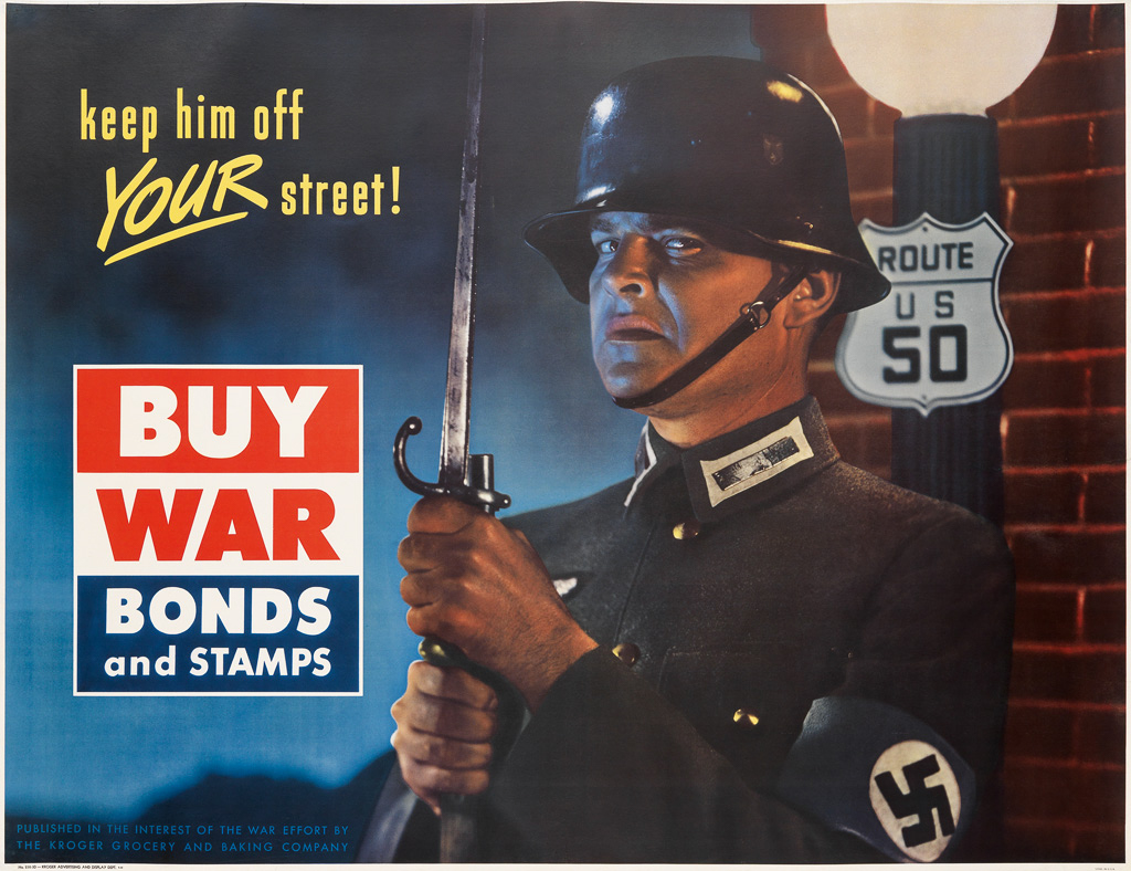DESIGNER-UNKNOWN-KEEP-HIM-OFF-YOUR-STREET--BUY-WAR-BONDS-AND-STAMPS-1942-35x47-inches-90x119-cm