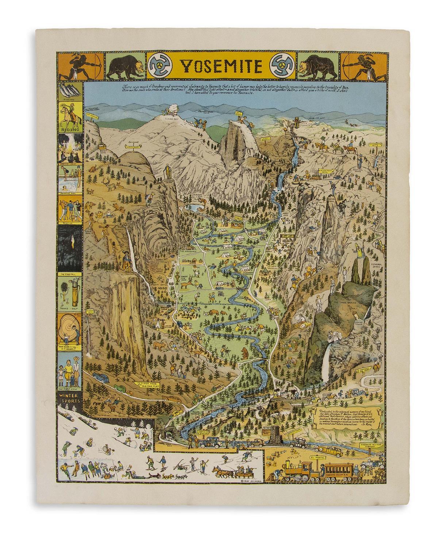 (PICTORIAL MAP.) Mora, Jo. Yosemite.