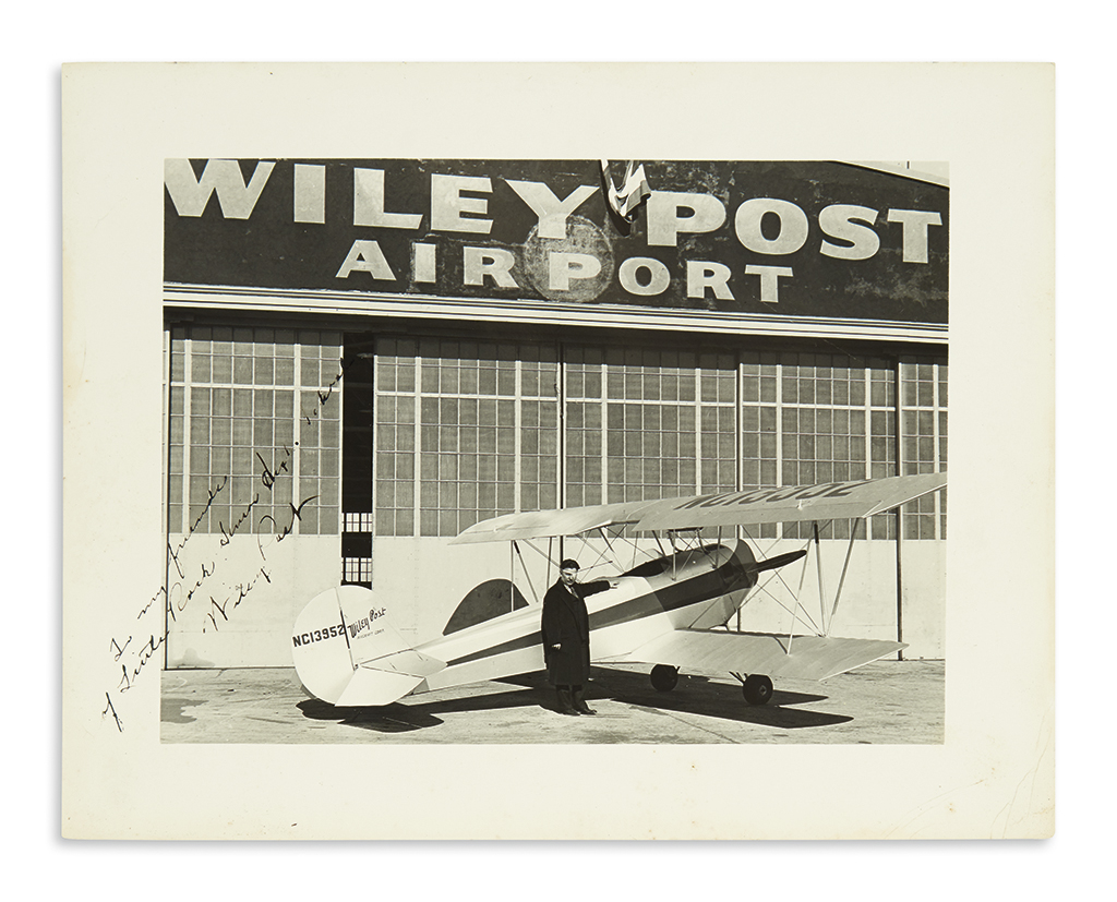 (AVIATORS)-POST-WILEY-Photograph-Signed-and-Inscribed-To-my-