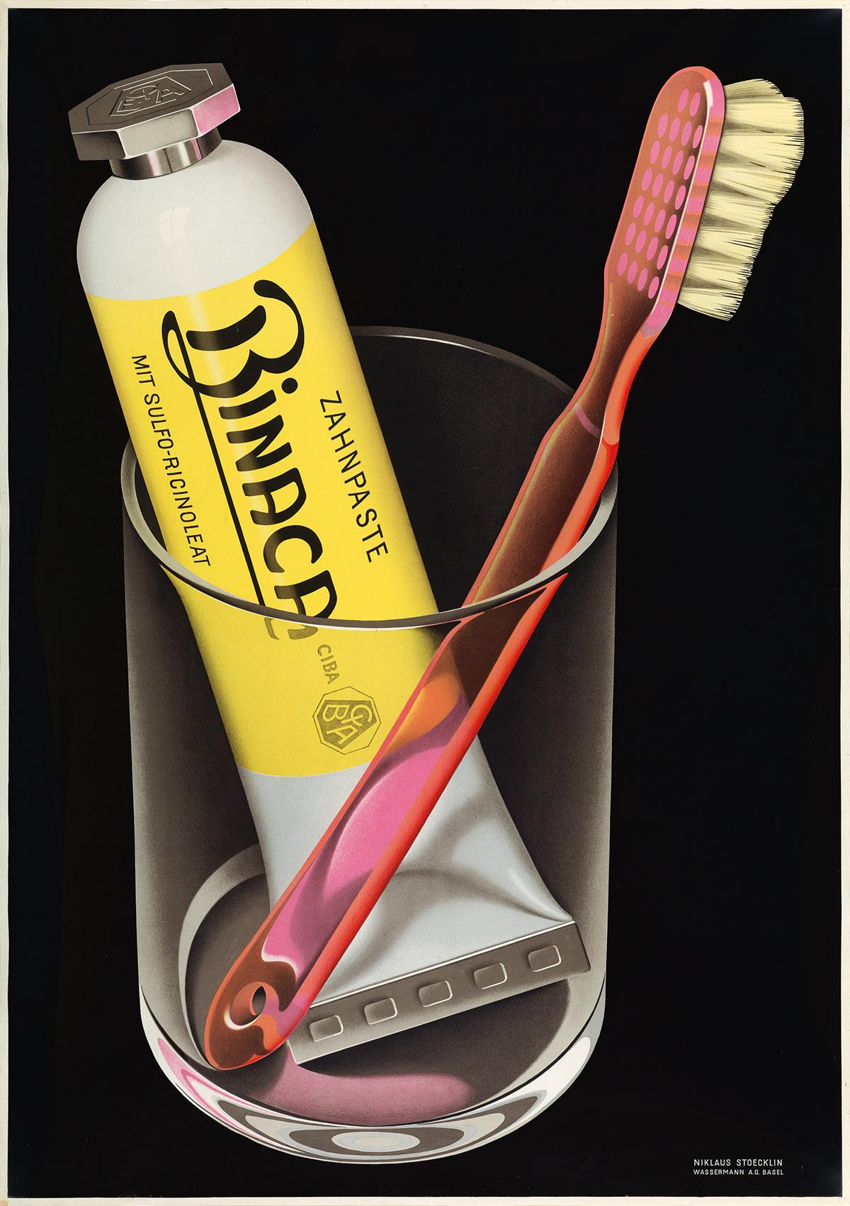 NIKLAUS STOECKLIN (1896-1982). BINACA. 1941. 50x35 inches, 127x90 cm. Wassermann, Basel.
