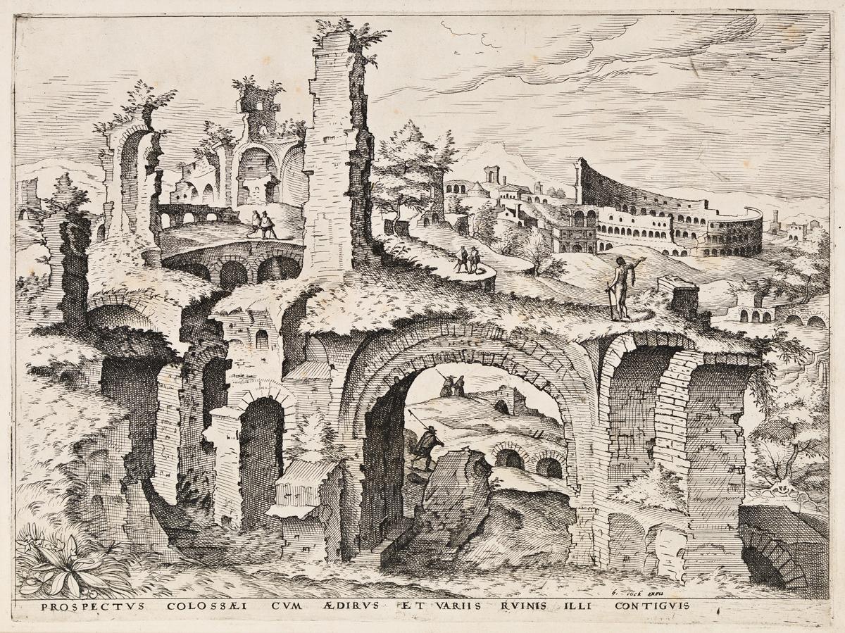HIERONYMOUS COCK Prospectus Colossæi.