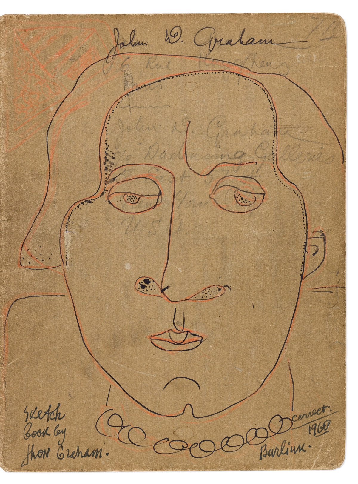 JOHN GRAHAM (1886-1961) Sketchbook with approximately 40 drawings.