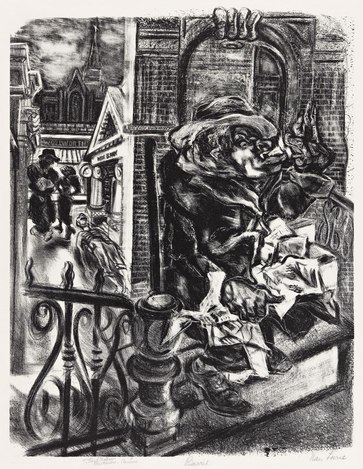 NAN LURIE (1910-1985) Barred.