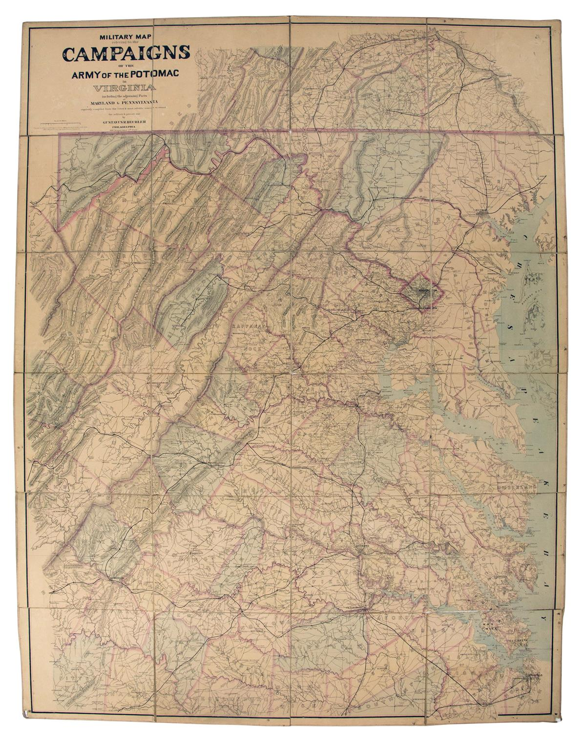(CIVIL-WAR)-Bechler-Gustavus-R-Military-Map-Refering-to-the-