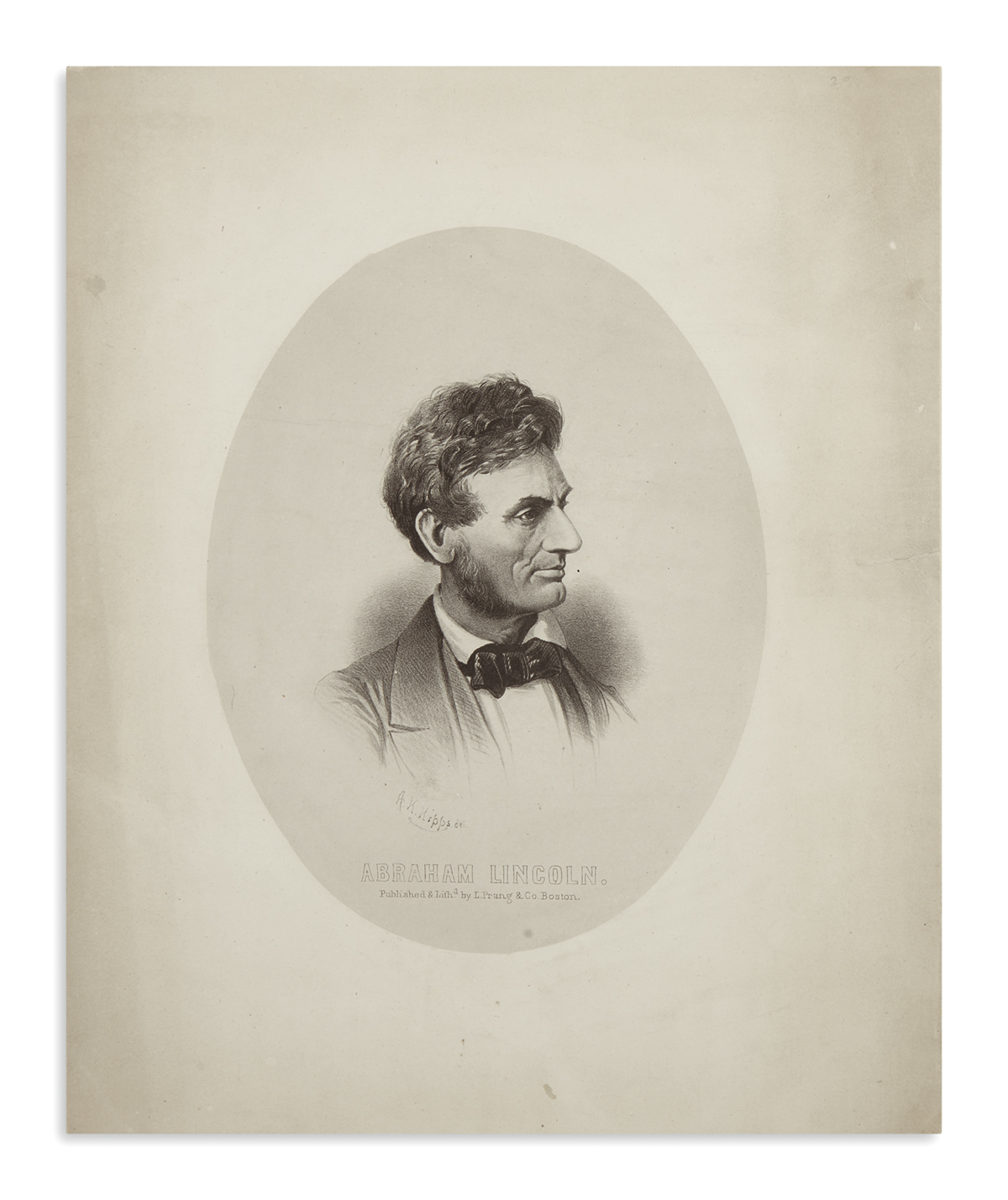(PRINTS--PRESIDENTIAL)-Prang-Louis-lithographer-Very-early-p