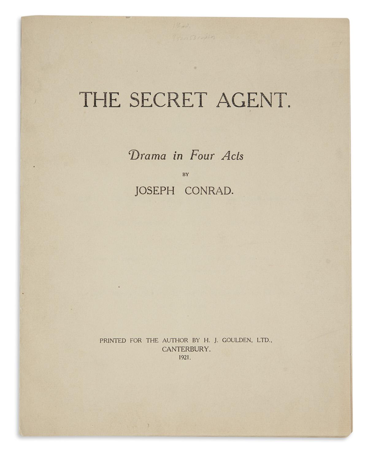 CONRAD-JOSEPH-The-Secret-Agent-Drama-in-Four-Acts