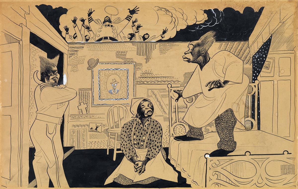 (THEATER / MUSICALS / AFRICAN-AMERICAN) AL HIRSCHFELD. Cabin in the Sky.