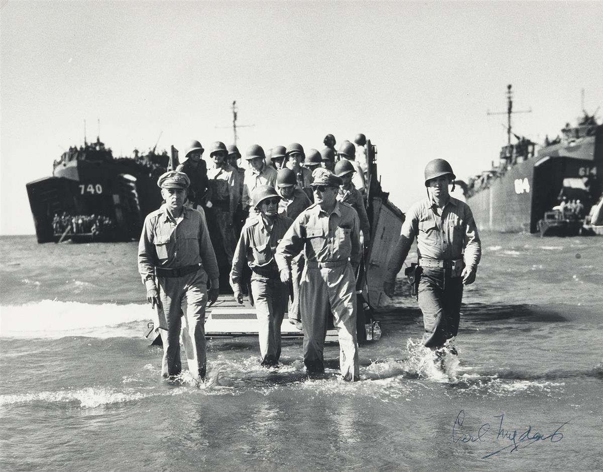CARL MYDANS (1907-2004) Gen. Douglas MacArthur landing in Luzon, Philippines.