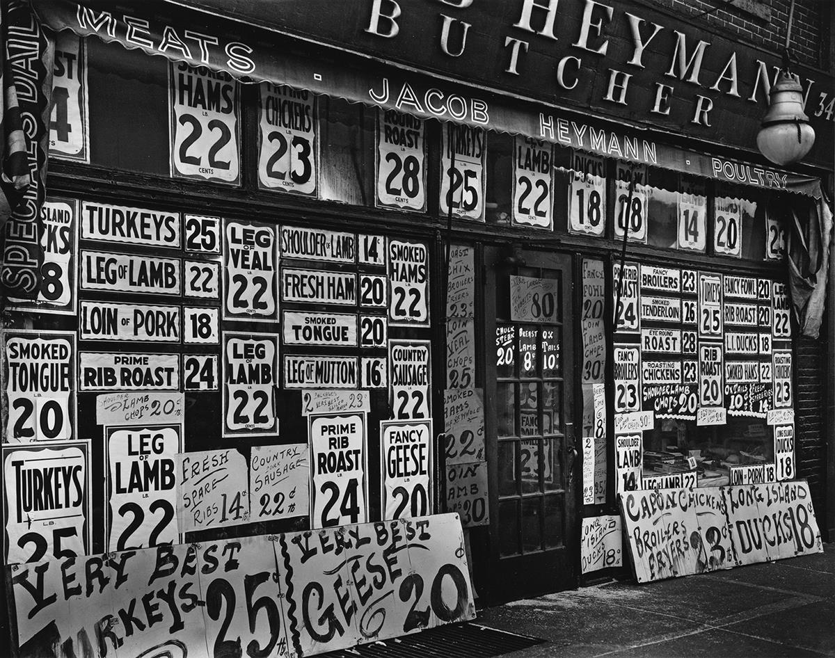 BERENICE-ABBOTT-(1898-1991)-Jacob-Heyman-Butcher-Shop--Barcl