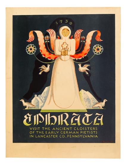 KATHERINE MILHOUS (1894-1977). EPHRATA. Circa 1936. 23x18 inches, 60x46 cm.