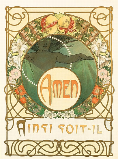 ALPHONSE-MUCHA-(1860-1939)-LE-PATER-Group-of-5-plates-1899-E