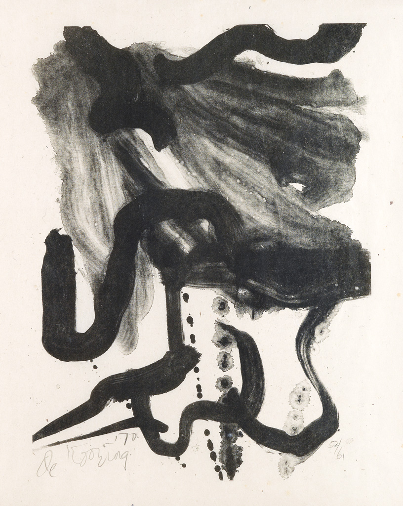 WILLEM DE KOONING Woman with Corset and Long Hair.