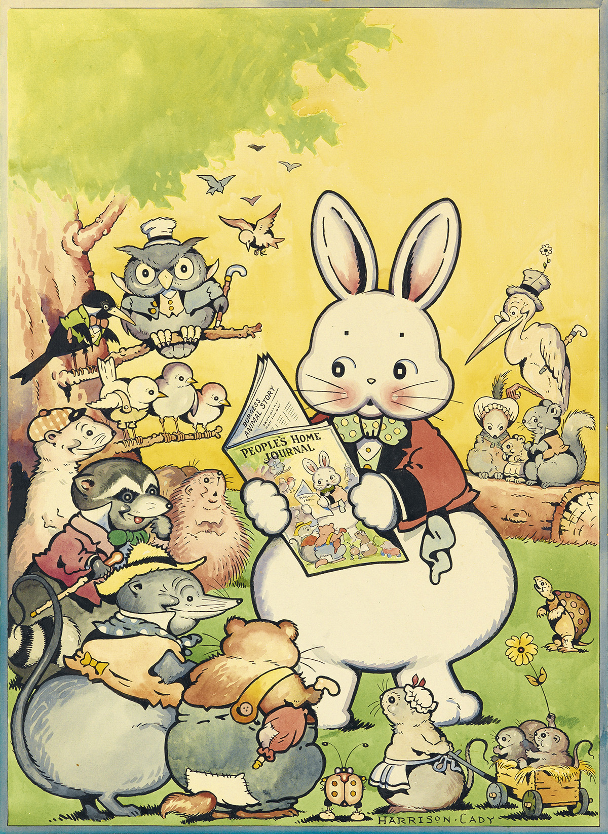 (CHILDRENS.)  HARRISON CADY. Peter Rabbit and His Friends.