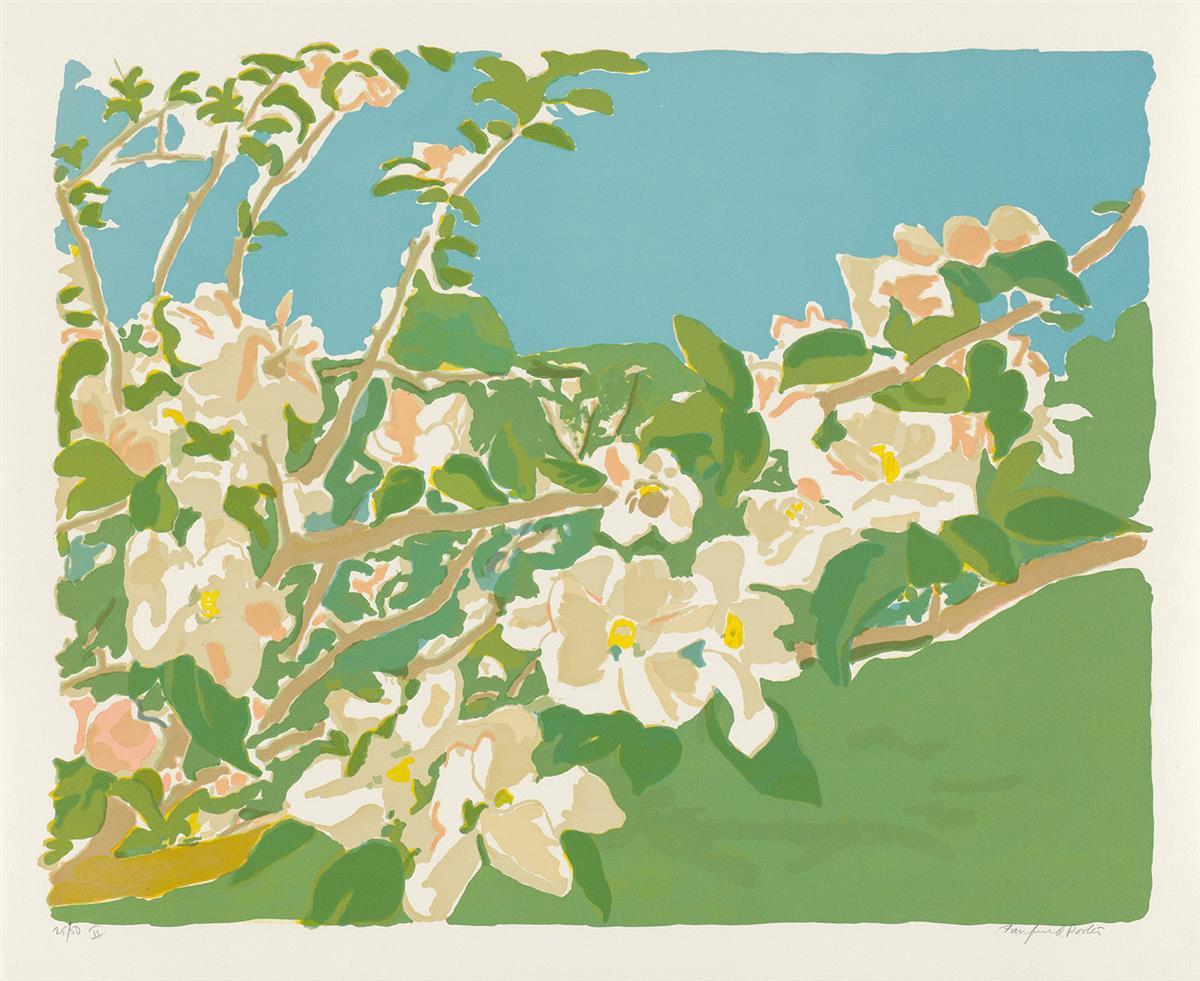 FAIRFIELD-PORTER-Apple-Blossoms-II--Apple-Blossoms-III