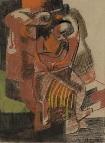RONALD JOSEPH (1910 - 1992) Untitled (Abstract Figures).