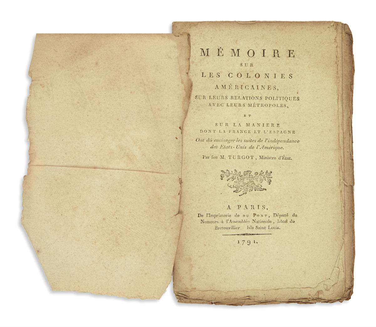 (AMERICAN-REVOLUTION--HISTORY)-Turgot-[Anne-Robert-Jacques]-