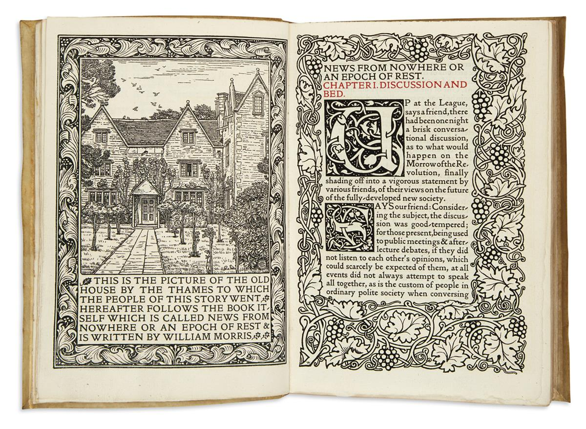 (KELMSCOTT PRESS.) Morris, William. News from Nowhere: or, an Epoch of Rest, Being Some Chapters from a Utopian Romance.