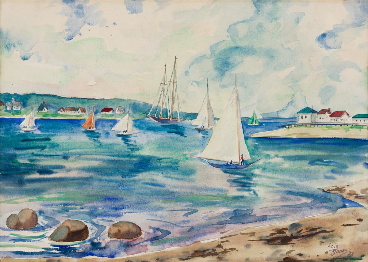 LOÏS MAILOU JONES (1905 - 1998) Vineyard Haven Harbor.