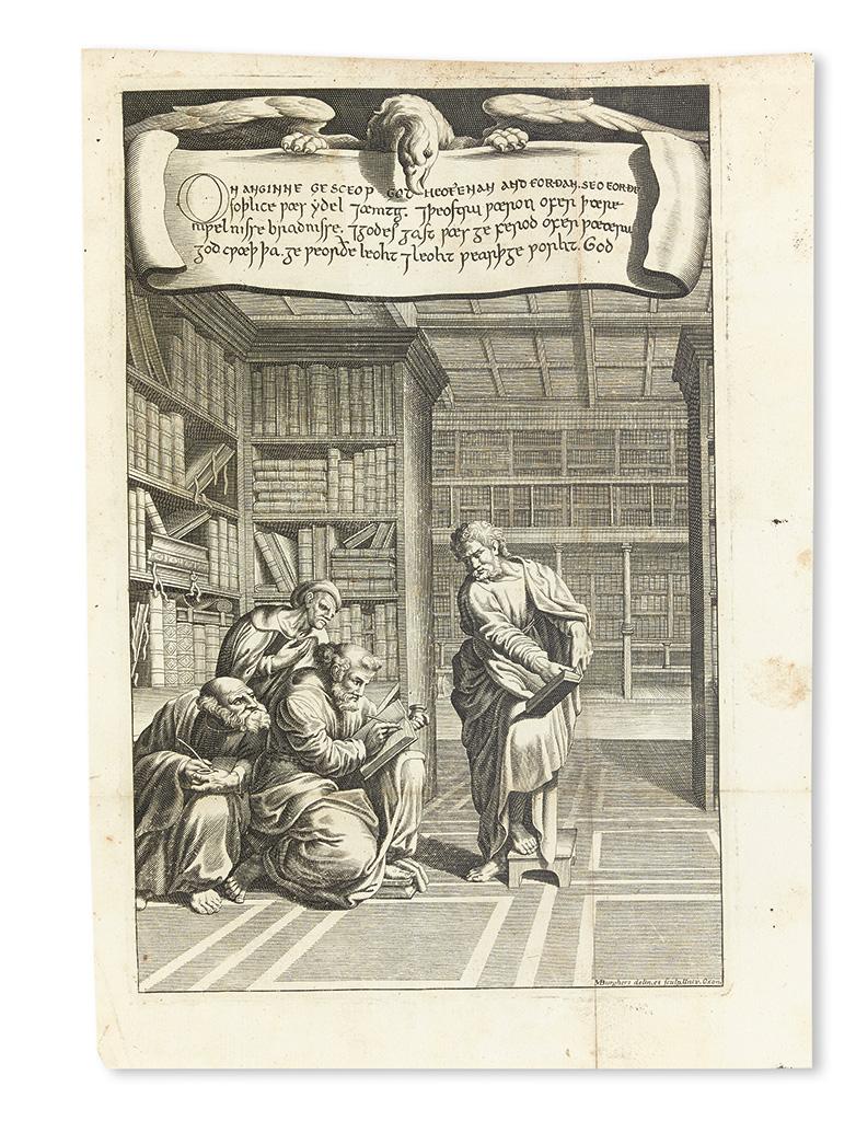 BIBLE IN ANGLO-SAXON.  Heptateuchus, Liber Job, et Angelium Nicodemi; Anglo-Saxonice. Historiae Judith Fragmentum; Dano-Saxonice. 1698
