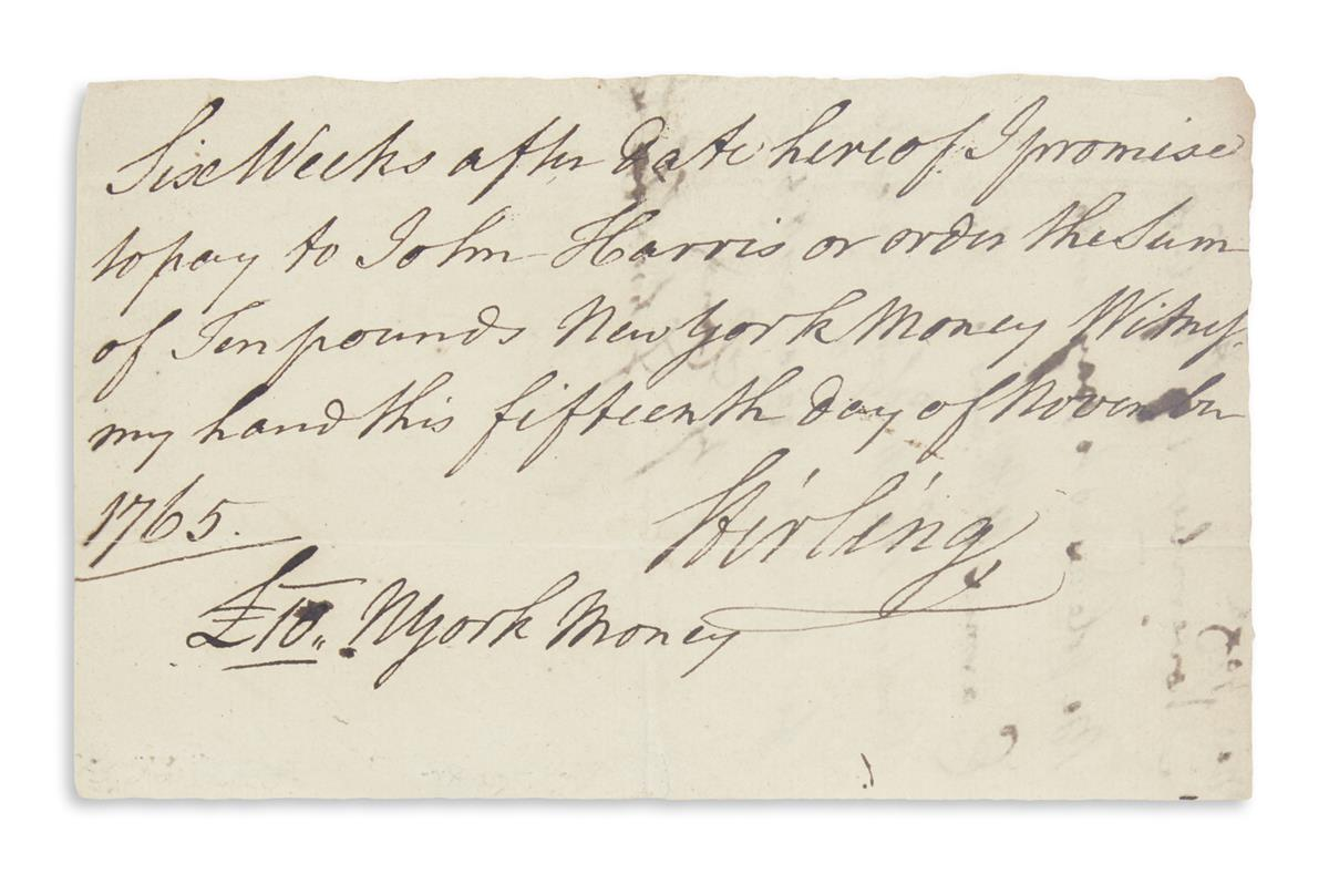 ALEXANDER-WILLIAM-(LORD-STIRLING)-Autograph-Document-Signed-