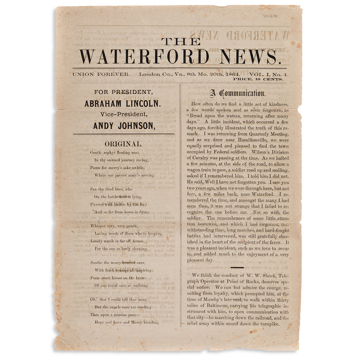 (CIVIL-WAR)-Issue-of-the-Waterford-News-published-by-3-young