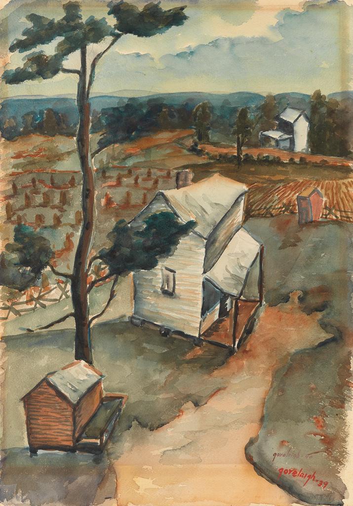 REX GORELEIGH (1902 - 1986) Untitled (North Carolina Landscape).