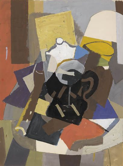 ROBERT BLACKBURN (1920 - 2003) Untitled (Modernist Still Life).
