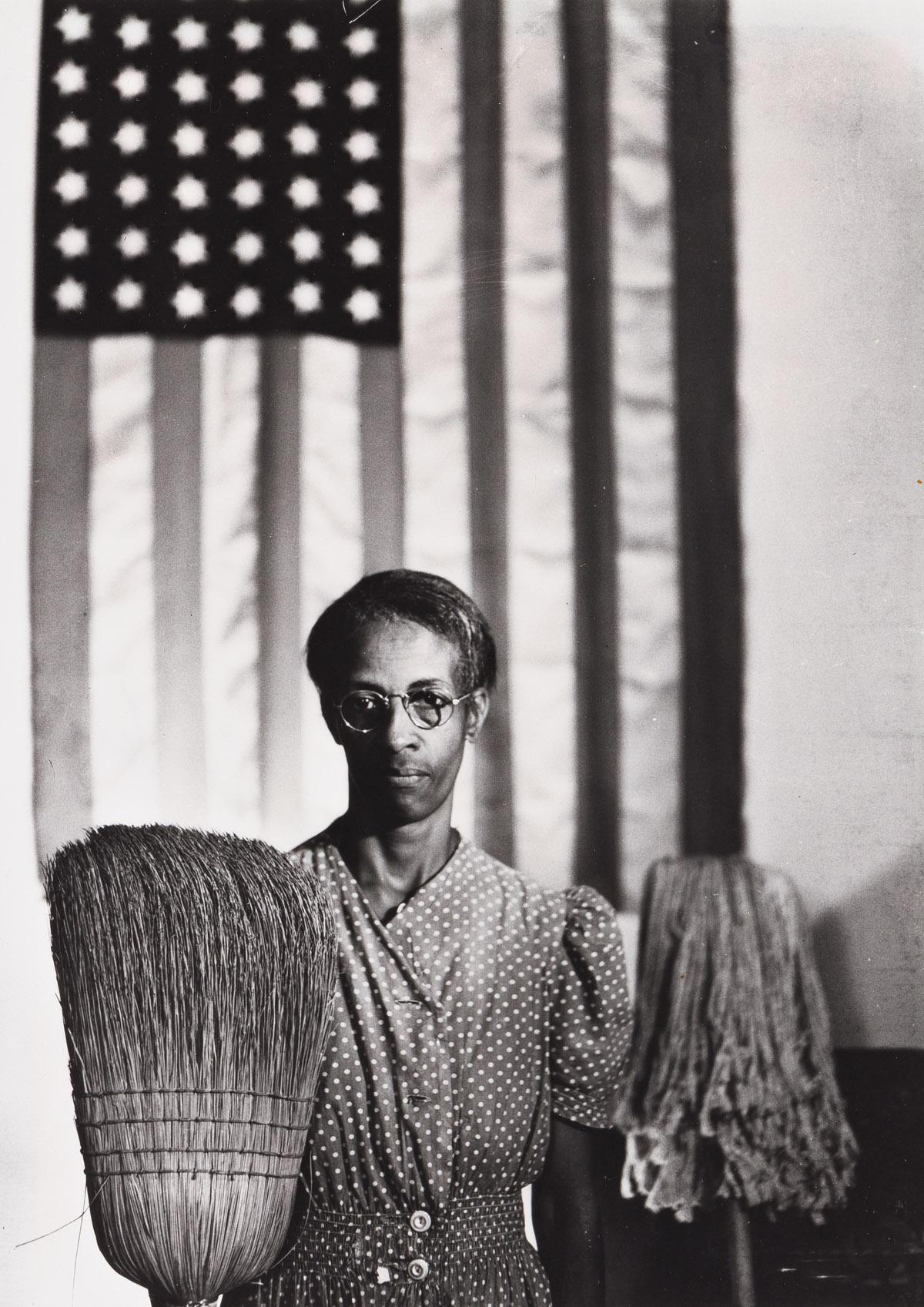 GORDON PARKS (1912 - 2006) American Gothic, Washington, D.C.