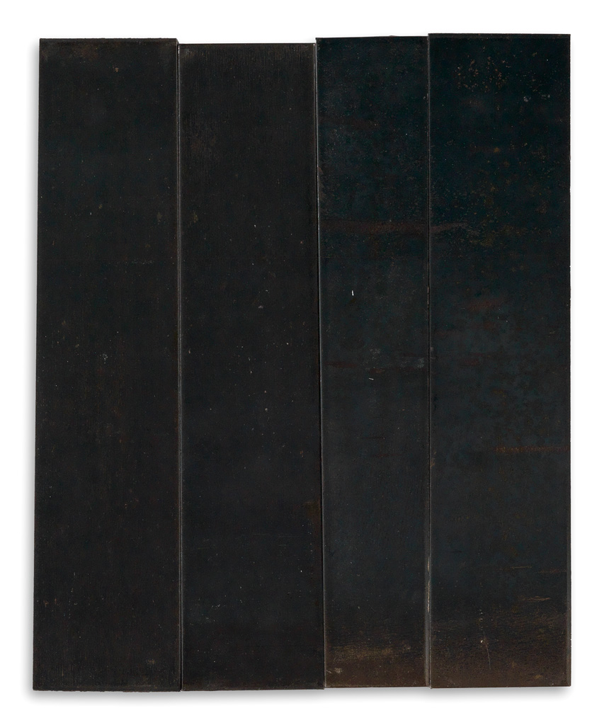 CARL ANDRE Irregular Rectangle Composed of Four Unequal Parts.