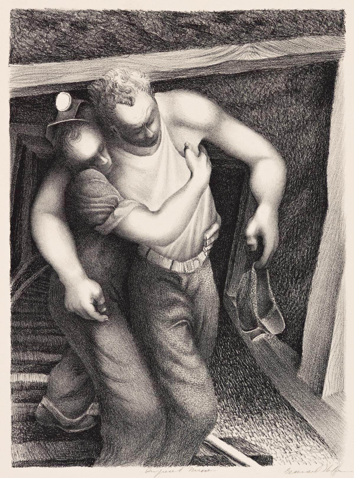 BERNARD STEFFEN (1907-1980) Injured Miner.