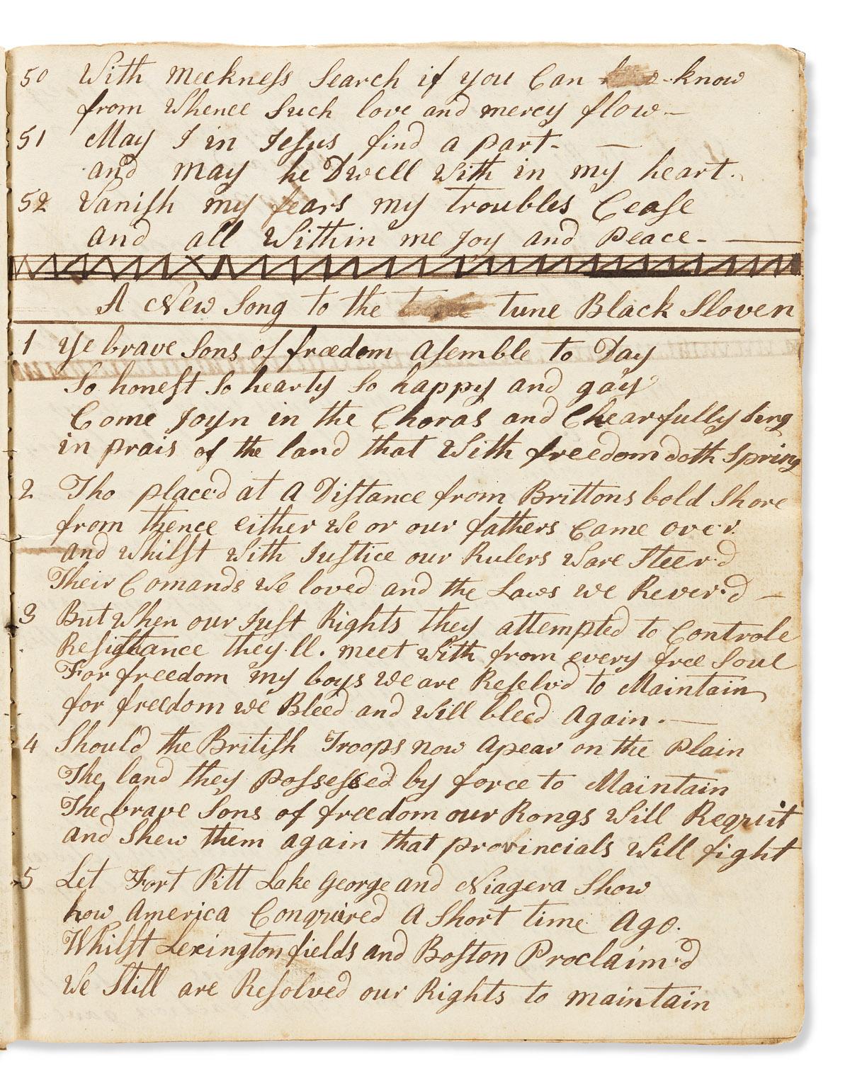 (AMERICAN REVOLUTION--1779.) Commonplace books kept by prisoner Rufus Lincoln, a Massachusetts officer.