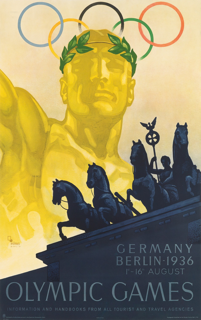 FRANZ-WÜRBEL-(1896-)-OLYMPIC-GAMES-1936-39x25-inches-101x63-