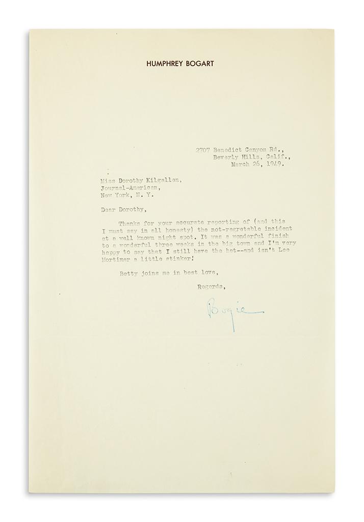 BOGART-HUMPHREY-Typed-Letter-Signed-Bogie-to-columnist-Dorot