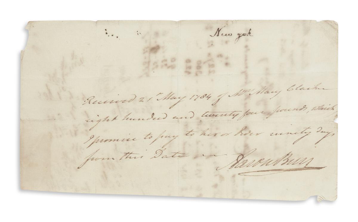 BURR-AARON-Autograph-Document-Signed-promissory-note