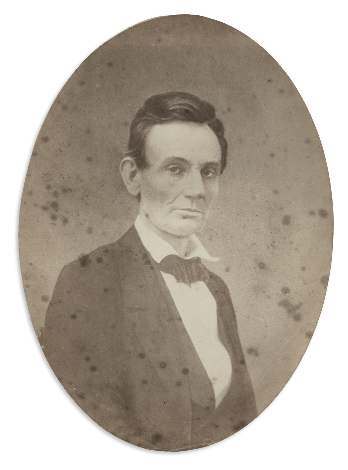 (LINCOLN, ABRAHAM.) Fassett, Samuel M. Early portrait of Lincoln from a few months before his presidential campaign.