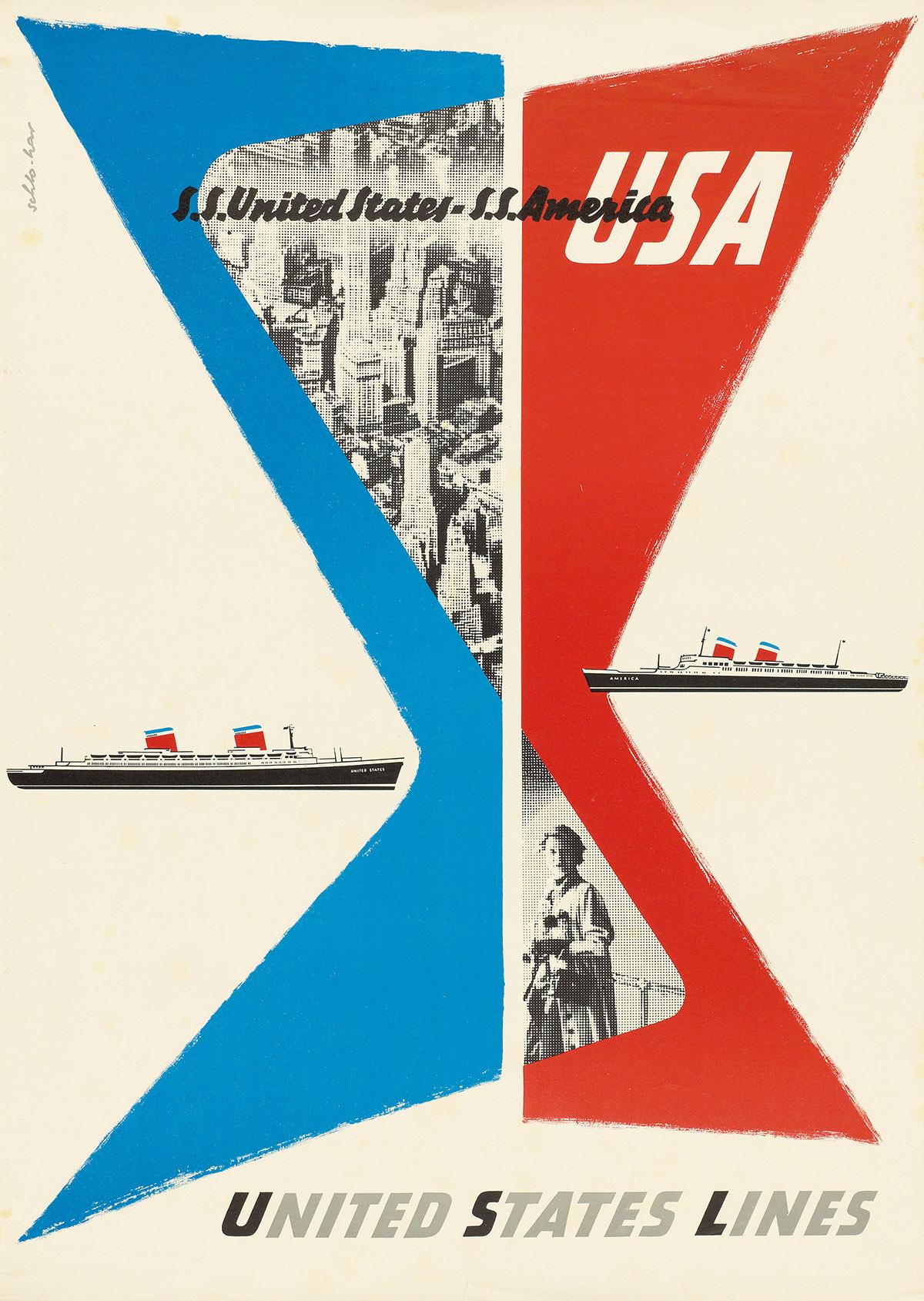 SIGNATURE-ILLEGIBLE-UNITED-STATES-LINES--USA-Circa-1950s-32x