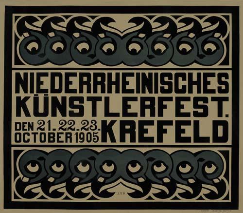 NIEDERRHEINISCHES-KUNSTERLFEST--KREFELD-1905-29x35-inches-Kl