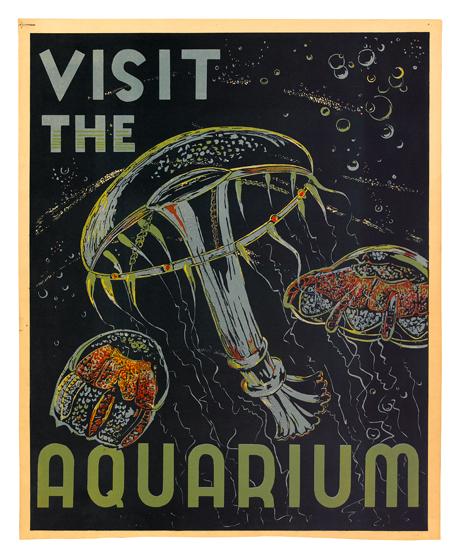 HUGH STEVENSON (1910-1956). VISIT THE AQUARIUM. 1936. 20x17 inches, 53x43 cm.