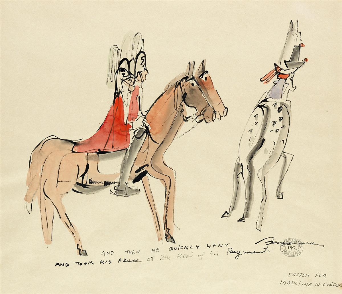 CHILDRENS LUDWIG BEMELMANS. And then he quickly went and took his place at the head of his Regiment.