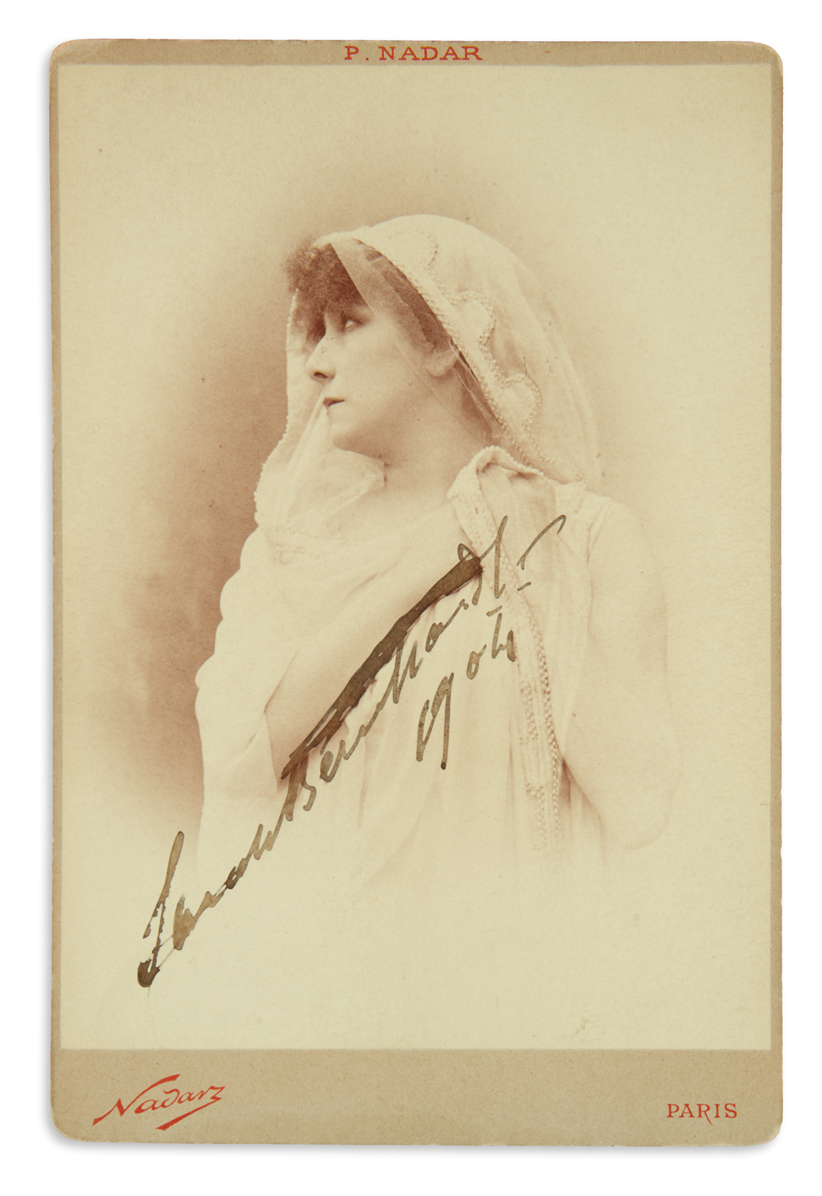 BERNHARDT-SARAH-Photograph-dated-and-Signed-cabinet-card-bus