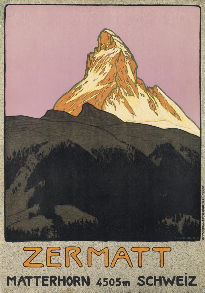 EMIL CARDINAUX (1877-1936). ZERMATT. 1908. 40x28 inches, 103x71 cm. J.E. Wolfensberger, Zurich.