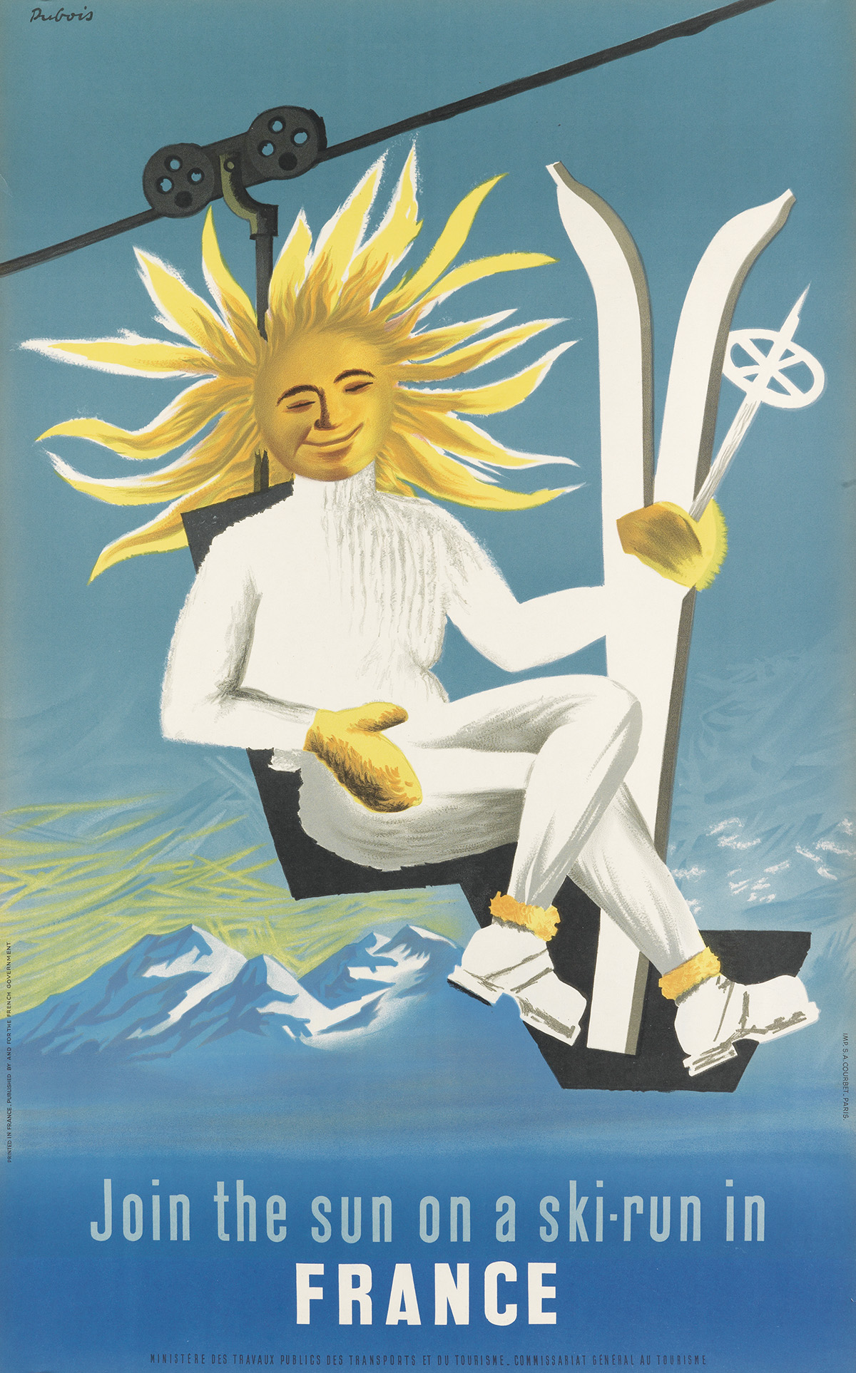 JACQUES-DUBOIS-(DATES-UNKNOWN)-JOIN-THE-SUN-ON-A-SKI---RUN-I