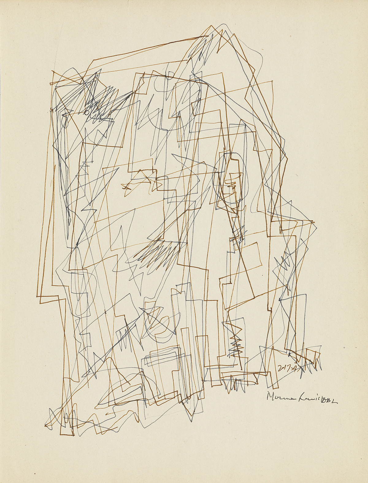 NORMAN-LEWIS-(1909---1979)-Untitled-(Processional-Compositio