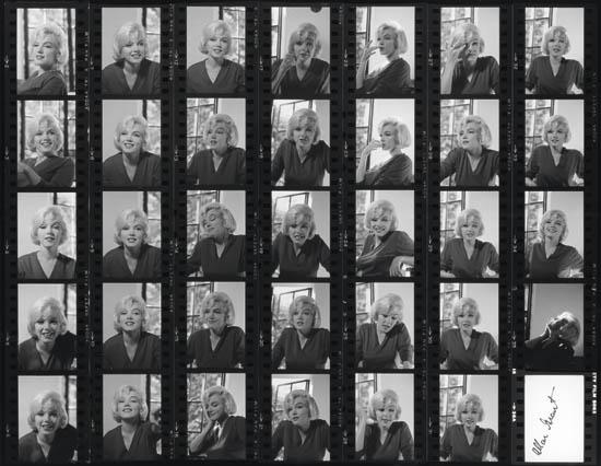 GRANT-ALLAN-(1919-2008)-Marilyn-Monroe-(contact-sheet-no-12)