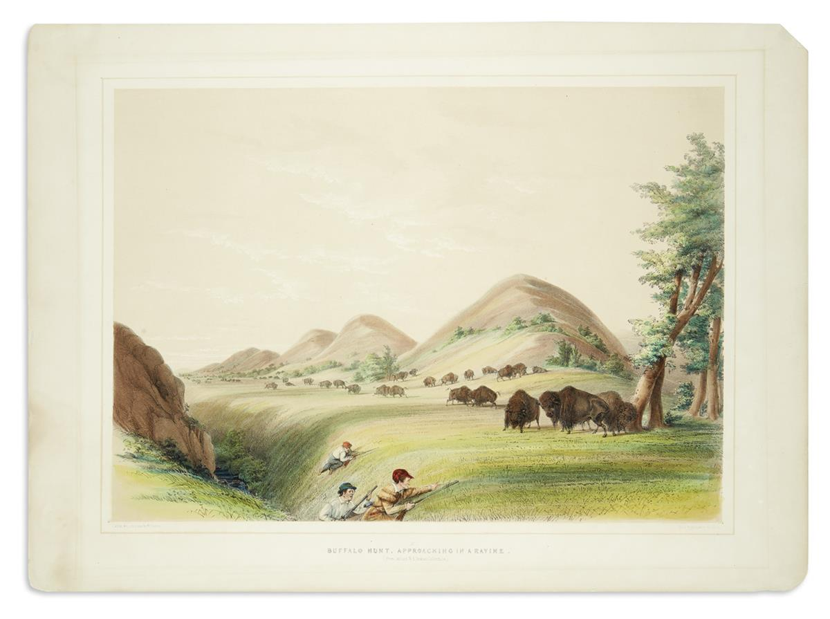 CATLIN-GEORGE-Buffalo-Hunt-Approaching-in-a-Ravine