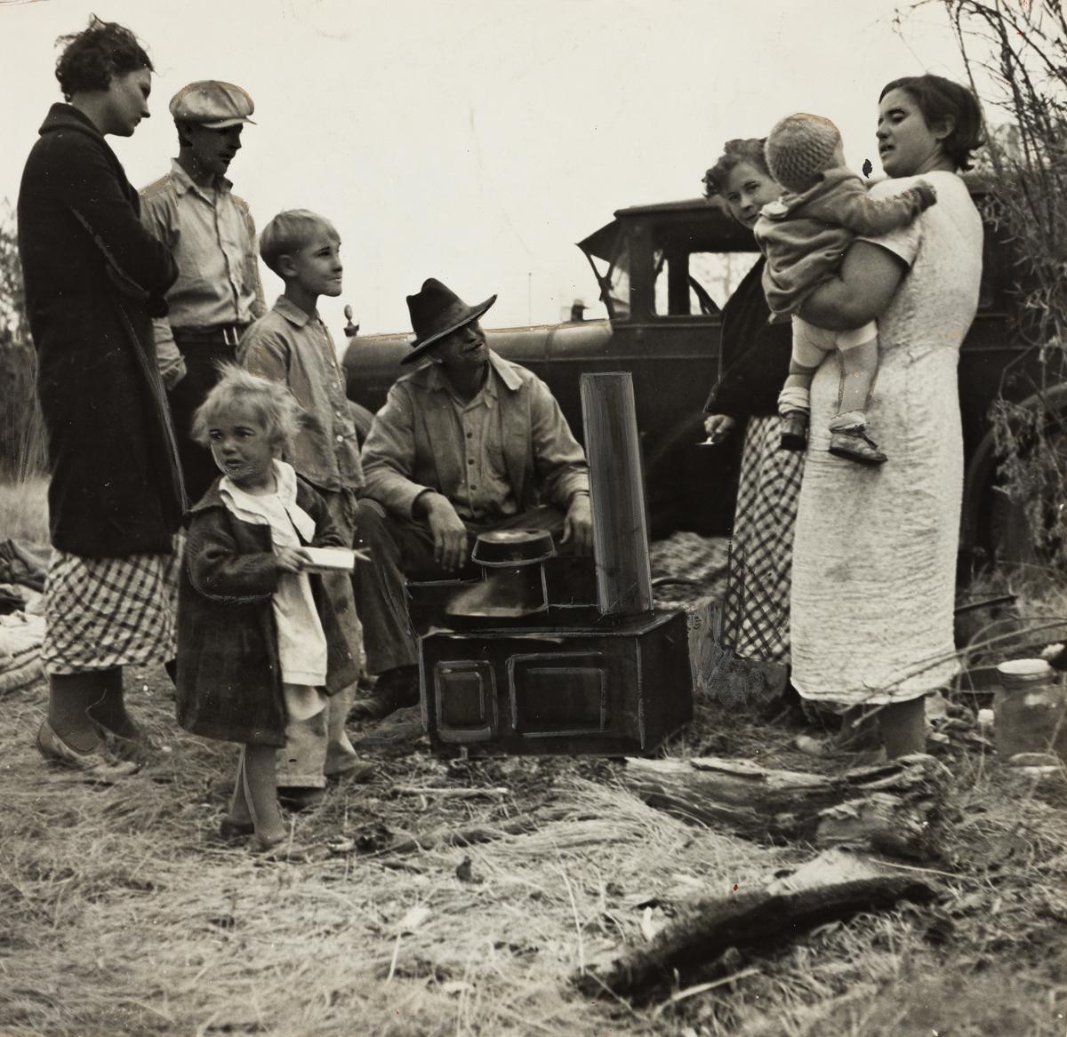 DOROTHEA LANGE (1895-1965) Dust Bowl Refugees Along the Highway.