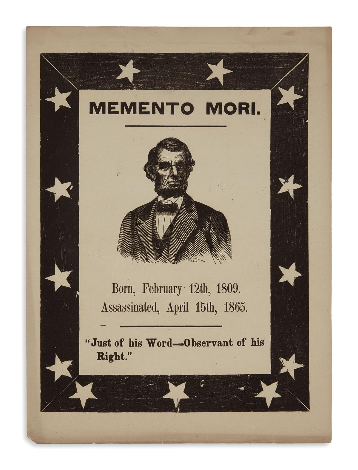 (PRINTS--MEMORIAL)-Memento-Mori----Just-of-his-Word--Observa