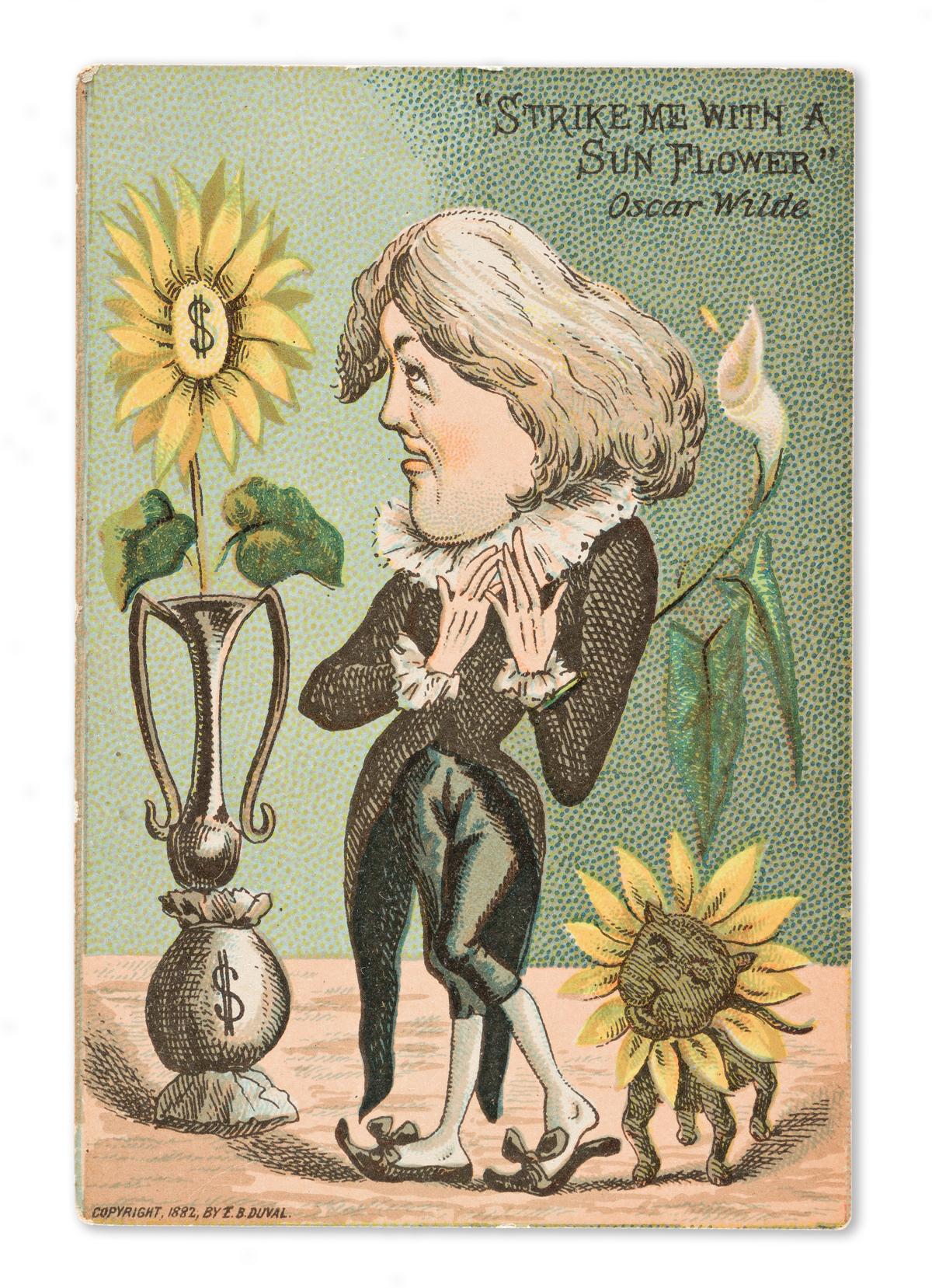 OSCAR WILDE (1854-1900) Group of Oscar Wilde advertising cards and theatrical photos.
